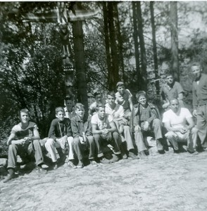 Junior boys camp, 1955. Photo submitted by Jim Sadler