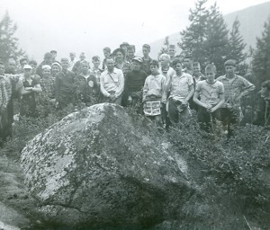 1955-Senior-Boys-at-the-Cairn-Mt.-Laska Photo submitted by Jim Sadler