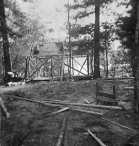1953 Rebuilding Cabin 1