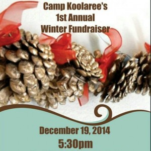 winter fundraiser poster