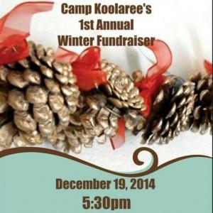 winter fundraiser poster